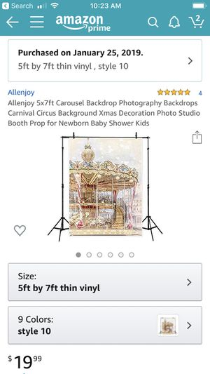 Carousel horse background for Sale in Houston, TX
