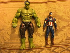 Marvel Legends thanos baf age of ultron Captain America & Hulk Loy for Sale in Wichita, KS