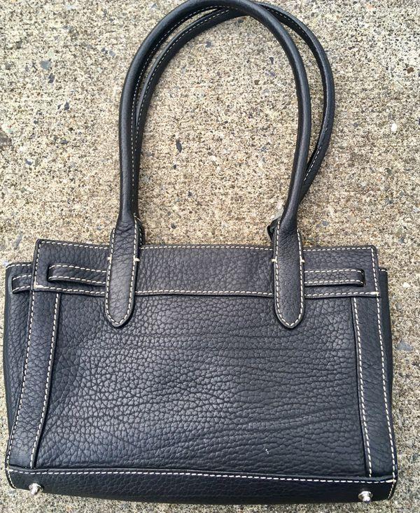 Dooney and Burke black leather bag handbag