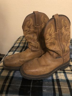 Justin work boots size 6.5D for Sale in North Richland Hills, TX
