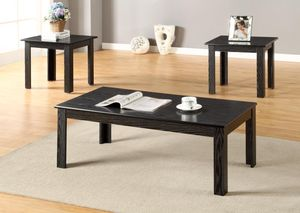 Brand New 3 Piece Black Wood Coffee Table Set for Sale in Silver Spring, MD