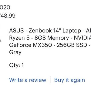 """Laptop — ASUS Zenbook 14"""" for Sale in Miami, FL"""