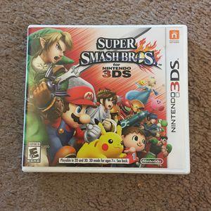 Super Smash Bros. For Nintendo 3DS for Sale in Tacoma, WA