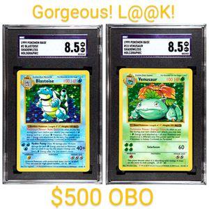 1999 Pokemon Blastoise & Venusaur Holo Shadowless for Sale in North Bellmore, NY