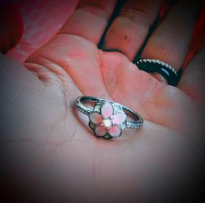 925 Pink & White ACRyLic FLoweR DiaMoNd RiNg for Sale in Bountiful, UT