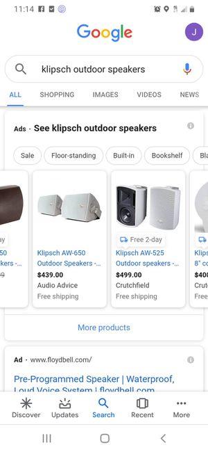 Klipsch outdoor speakers for Sale in Houston, TX