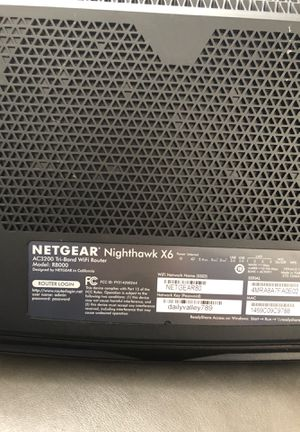 Nighthawk x6 router for Sale in Sarasota, FL