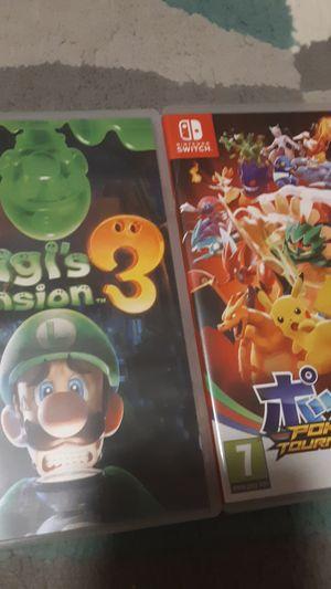 Nintendo Switch Games (Luigi's Mansion 3, Pokken Tournament DX, Splatoon 2) for Sale in Brea, CA