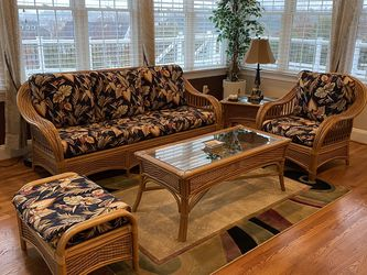 Wicker Sofa Set With Extra Set Of Cushion Cover Set for Sale in Germantown,  MD