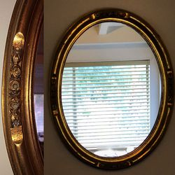 "Vintage Oval Wood Wall Mirror. ""woodland Hills"" Ca for Sale in Calabasas,  CA"