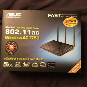 Asus Dual Band Gigabit Router 802.11 ac for Sale in Spanaway, WA