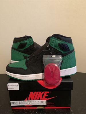 Size 8.5 Air Jordan 1 High Retro Pine Green Black (Pick Up) for Sale in Sunrise, FL