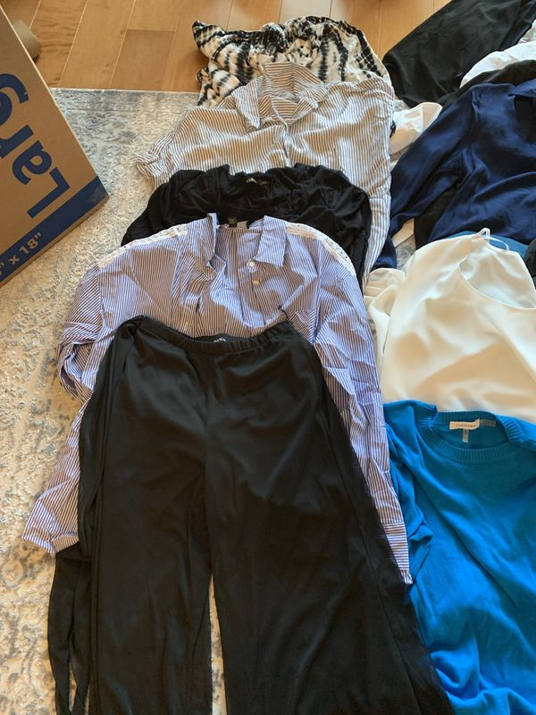 Pants size 8 -12 and tops medium - large.