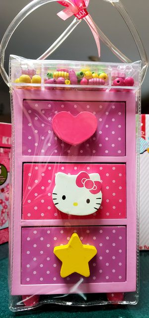 Hello kitty wooden jewelry chest for Sale in DeLand, FL