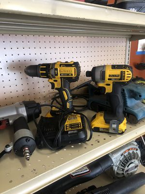 DEWALT HAMMER DRILL AND IMPACT 20v for Sale in St. Louis, MO