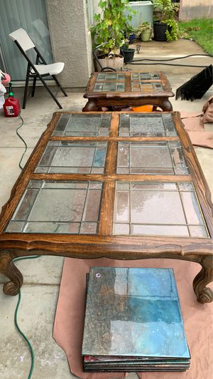Large oak coffee table set for Sale in Fresno, CA