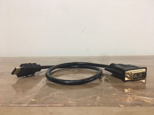 DVI to HDMI / HDMI to DVI cable adapter for computer, monitor, TV, projector or compatible devices for Sale in Pembroke Pines, FL