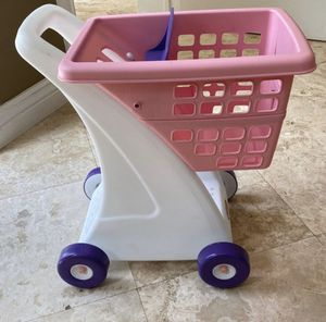 Pink little tikes shopping cart for Sale in Deerfield Beach, FL