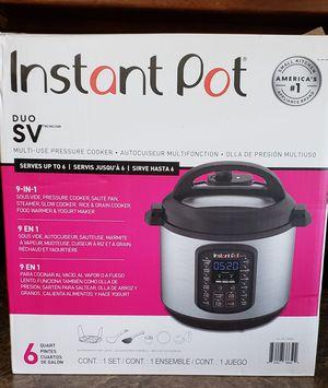 Instant pot duo SV pressure cooker for Sale in Bakersfield, CA