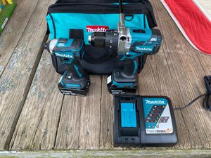 Makita BL brushless hammer drill and impact driver 18 v for Sale in Durham, NC