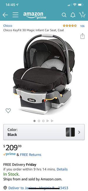 Chicco KeyFit 30 Magic Infant Car Seat, Coal for Sale in Virginia Beach, VA
