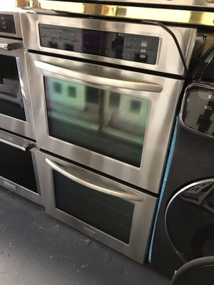 "KITCHEN AID 30"" STAINLESS STEEL DOUBLE WALL OVEN WITH CONV & SELF CLEAN for Sale in Norwalk, CA"