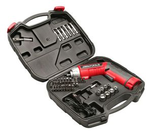 Cordless Screwdriver Set - 45-Piece Power Screwdriver with 3.6v Lithium-Ion Battery, Pivoting Head, Flashlight & Case, Red/Black for Sale in Los Angeles, CA