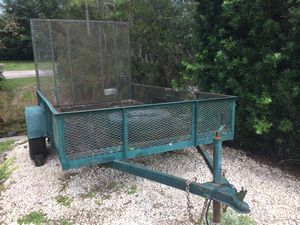 Utility Trailer 6X10 with expanded metal sides. for Sale in Casselberry, FL