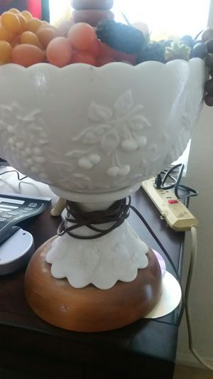 Old milk glass lamp for Sale in Beaumont, CA