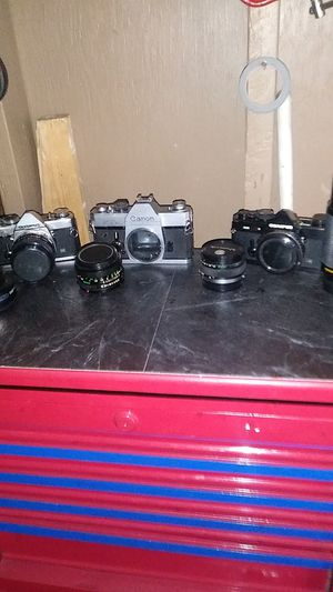 Cameras olympus -2 and one canon for Sale in Phoenix, AZ