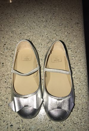 Janie and jack silver flats for Sale in Dallas, TX