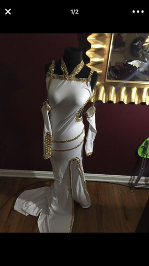 White & Gold Mermaid Dress for Sale in Walton Hills, OH