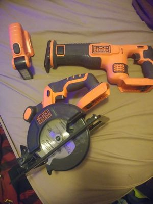 Black and decker, tools, saw, light for Sale in Fairfax, VA