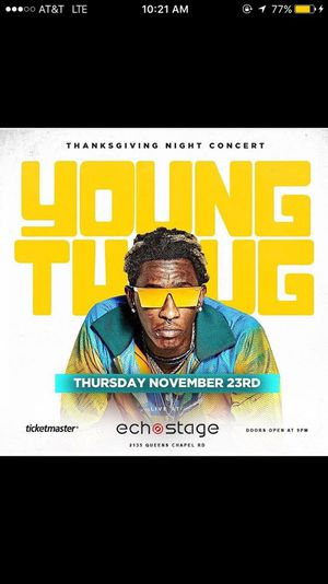 Young Thug Live Thanksgiving Night for Sale in Mount Rainier, MD