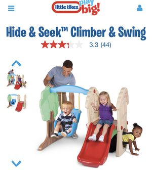 Little tikes Hide and Seek climber and swing for Sale in Surprise, AZ