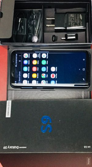 SAMSUNG GALAXY S9 - 64GB - FACTORY UNLOCKED - WORKS WITH ANY CARRIER- EXCELLENT CONDITION - CREDIT CARD ACCEPTED! for Sale in Skokie, IL