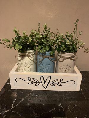 Handmade wood boxes w/mason jars for Sale in Joliet, IL