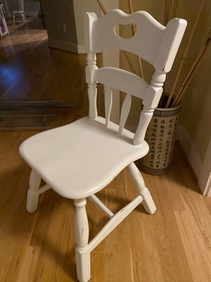 White wood chair for Sale in Seattle, WA
