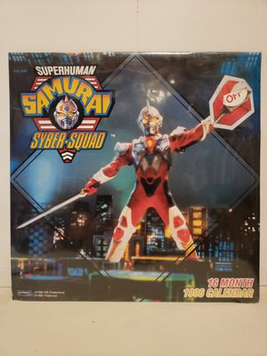 Superhuman Samurai Syber-Squad 1996 Calendar Sealed NIP for Sale in Goodyear, AZ