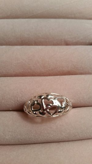 Sterling silver heart cut out ring for Sale in Powhatan, VA
