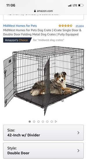 Large Dog Crate for Sale in Upland, CA