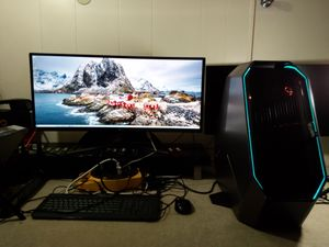 """Alienware 51-R2 I7 5820K New 240GB SSD 1TB HDD 16G RAM 4G Card Win10 -34""""LG monitor+Keyboard, mouse for Sale in Oceanside, CA"""
