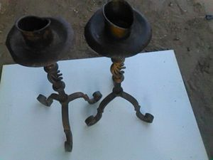 """Vintage wrought iron 20""""tall candle holders for Sale in Culver City, CA"""
