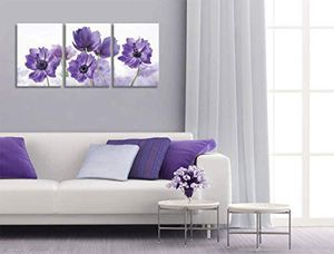 Canvas Art Wall Decor for Bedroom Purple Flower Bloom Pictures Prints Canvas Wall Decoration for Sale in Marquette, MI