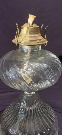 "Antique Vintage clear glass oil kerosene hurricane lamp pedestal base only. H:11"" Dia:6"" for Sale in Allen,  TX"