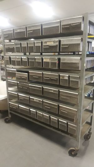 Metal double sided rolling storage for Sale in Tacoma, WA