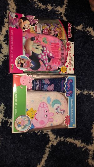 Peppa Pig & Minnie Mouse Bath Buddy Set for Sale in Manassas, VA
