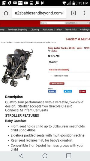Graco Quattro Double Stroller for Sale in Portland, OR
