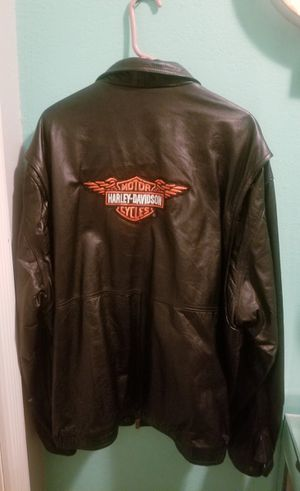 Harley Davidson Patch Leather Jacket..Size 3x mens...Very Nice Jacket! for Sale in Modesto, CA