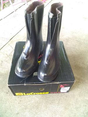 Men's Black Zip Top Rain Boots size 8 BRAND NEW $5.00 for Sale in Spokane Valley, WA